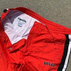 Chicago Bulls Starter track/warmup pants red